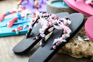 Slippers versieren